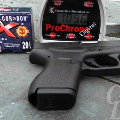 GLOCK 42, CORBON DPX Ammunition and ProChrono