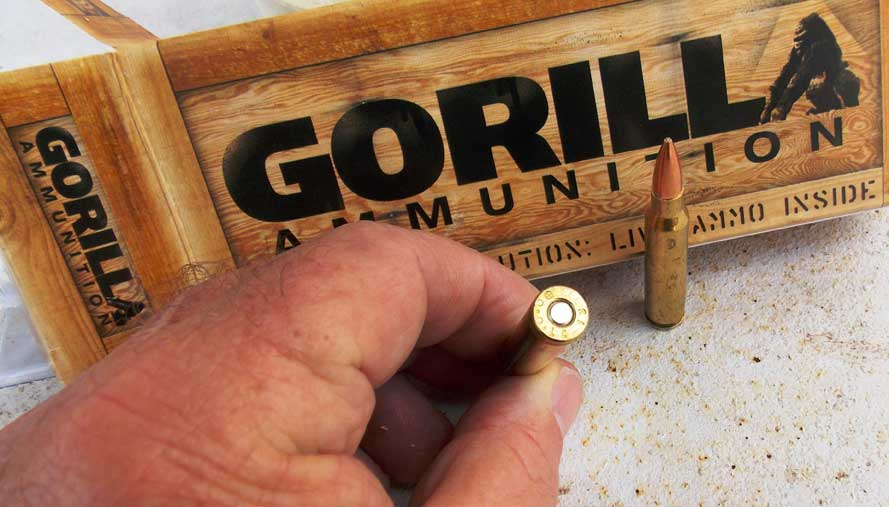 Primer on a .223 Gorilla ammunition load