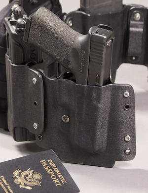 The HTC Pistol holster in the Low Profile System