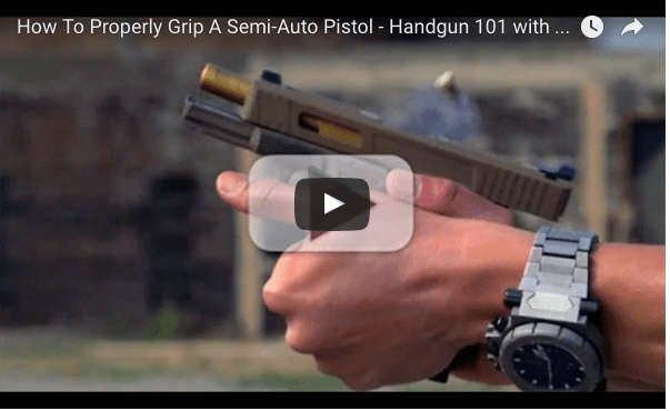 How to grip a handgun video