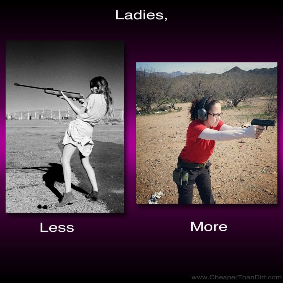 Unfortunately, I have seen way too many pictures of women on the internet wrongly shooting a gun.