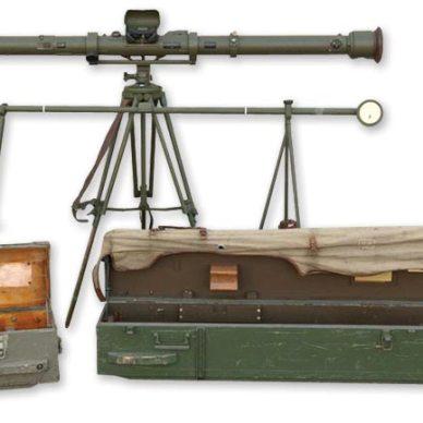 WWII Finnish Stereoscopic Rangefinder and Storage Cases