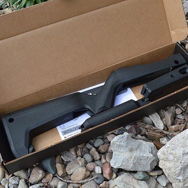Magpul X-22 Backpacker stock disassembled in the box