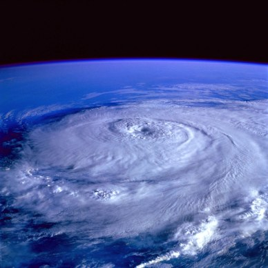 Satellite picture of a hurricane