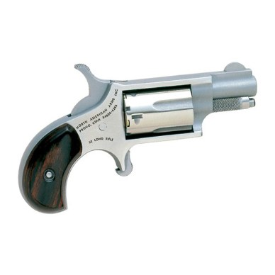 Stainless steel palm-sized mini revolver with wood grips