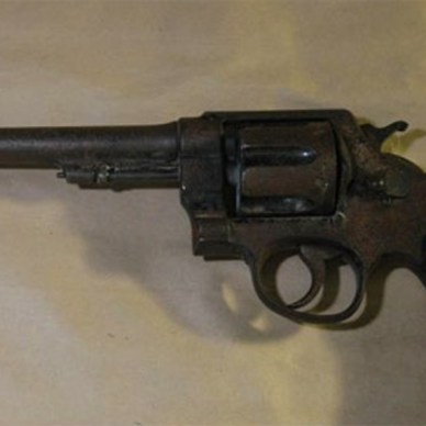 Old long barrel revolver
