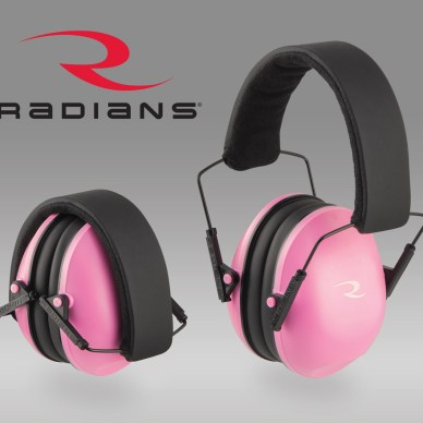 Pink Radians passive shooting earmuffs