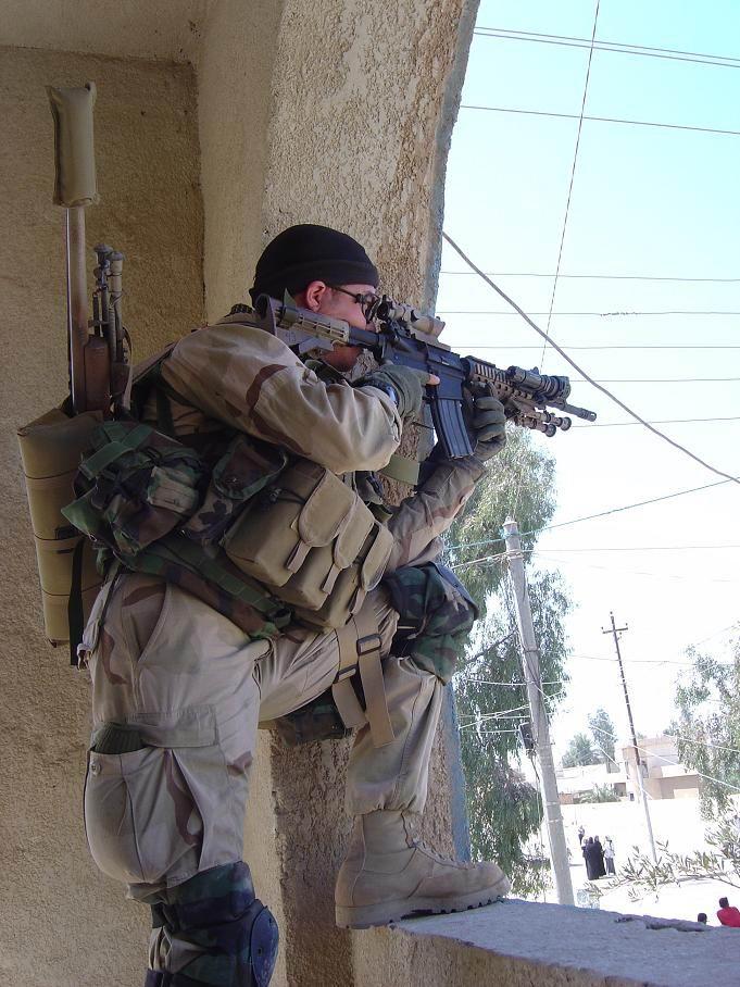 Sniper in window