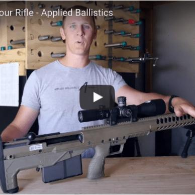 Brian Litz setting up a rifle