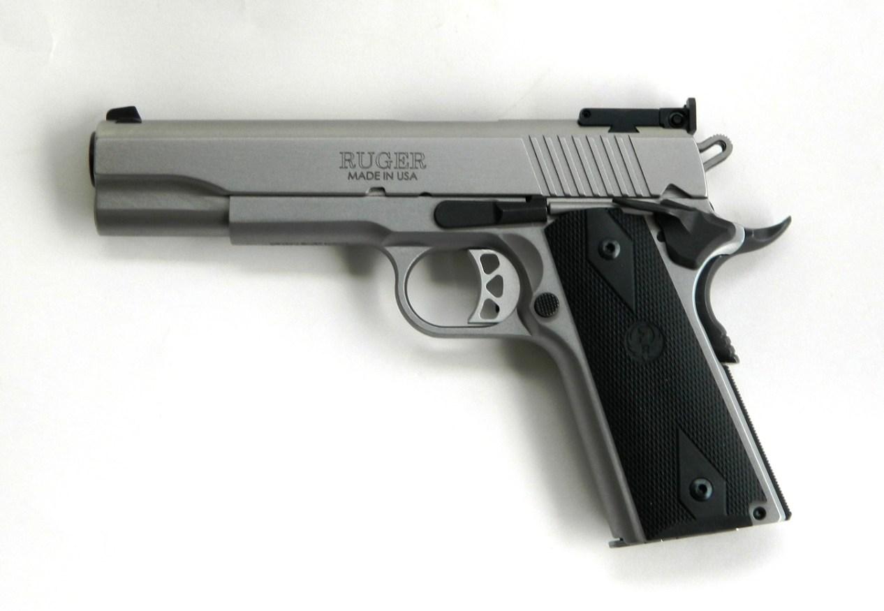 Ruger SR1911 10mm handgun left profile