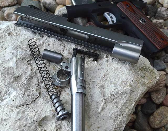 Disassembled Ruger SR1911 pistol