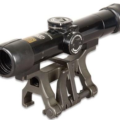 Dark gray metal scope