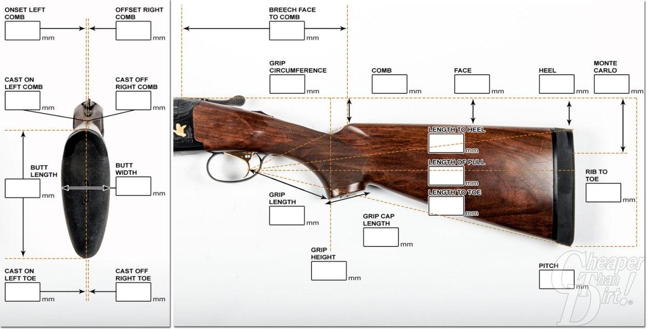 DIY Shotgun Measuring Chart