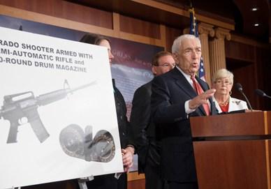 Senator Lautenberg pushes his anti gun agenda.