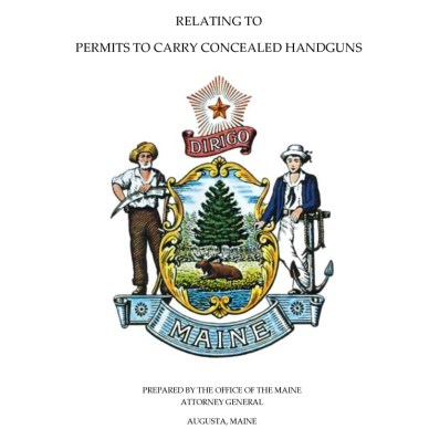 cover of Maine's handgun laws book