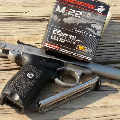 SW Victory 22 pistol with Winchester M-22 ammunition yesterday