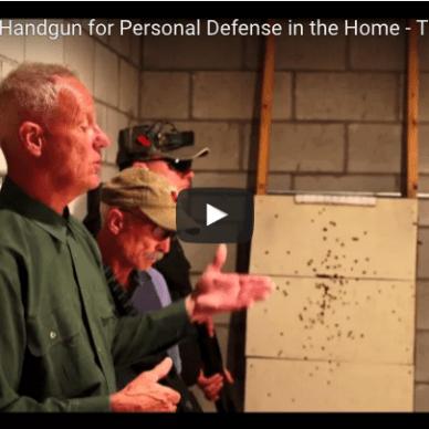 YouTube video cover of Shotgun versus Handgun for home defense