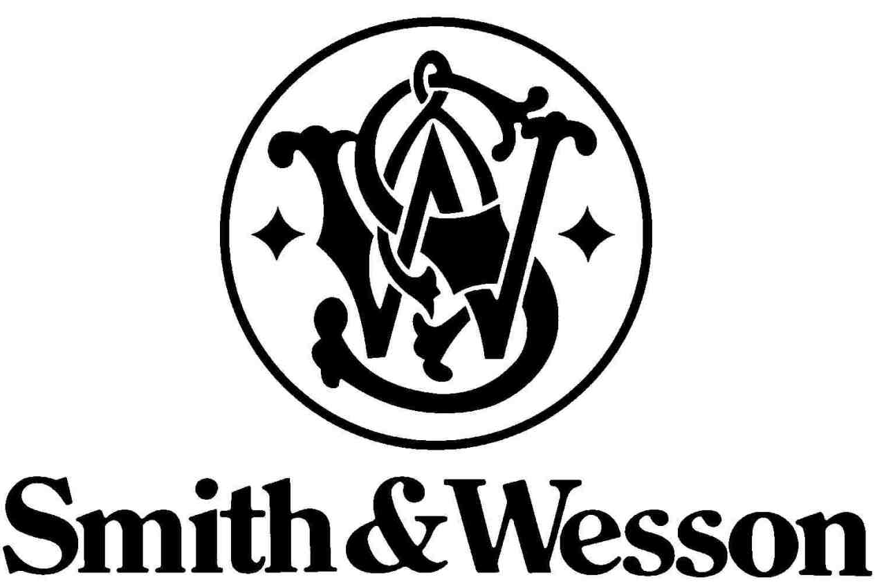 Smith and Wesson black and white logo