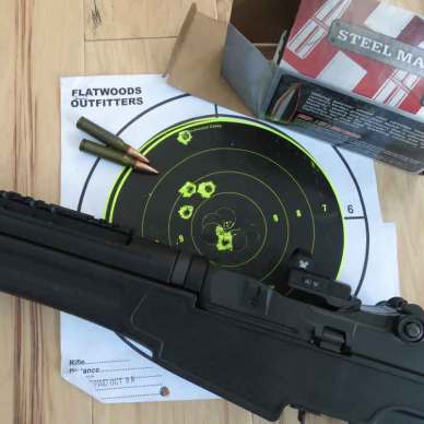 SOCOM 16 rifle with Flatwood target