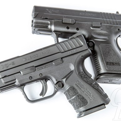 The Springfield XD side by side with the new Mod.2
