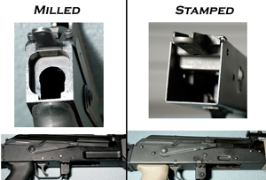 Stamped and llilled AK-47 receiver