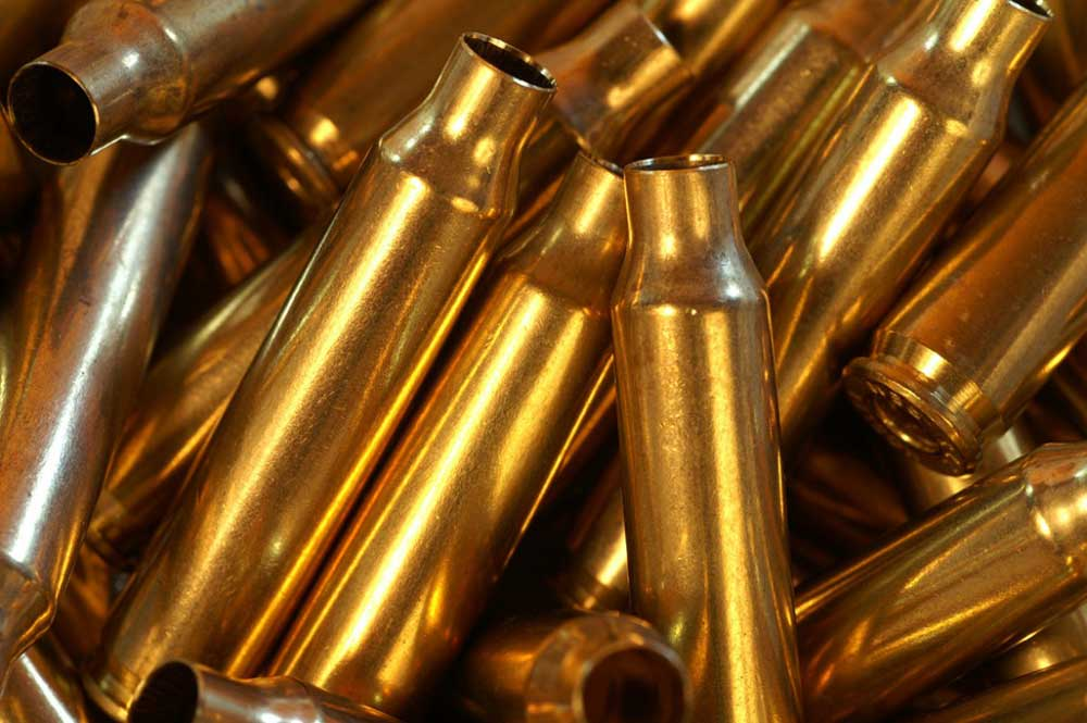 Brass rifle cartridge cases
