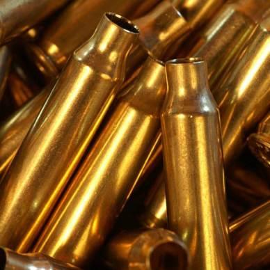 Brass rifle cartridge cases