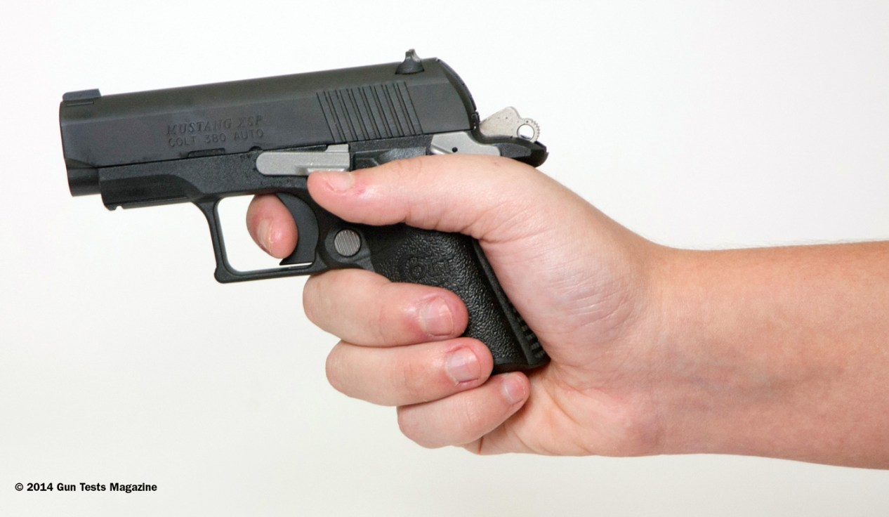 Colt Mustang Pocketlite with trigger modifications