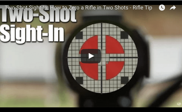 OPening page of the Two Shot Sight In video