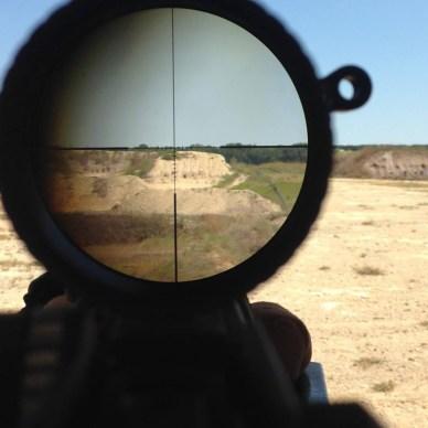 View through a riflescope