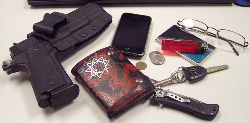 Pick of key items you can carry on you to create an emergency survival kit:
