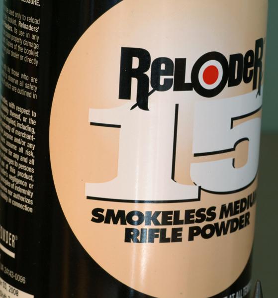 Reloader 15 smokeless powder