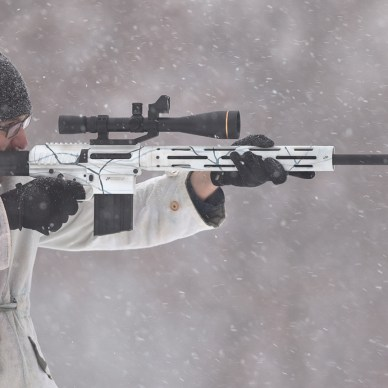 JP07 .308 rifle in winter trim