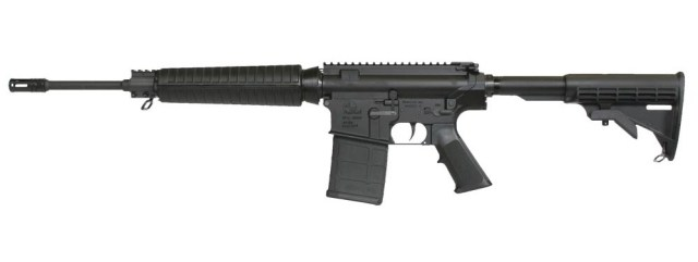 Black AR-10 rifle