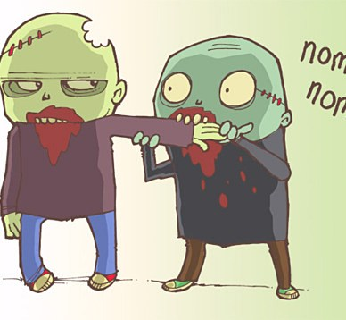Zombies are so 2011, boring and played out.