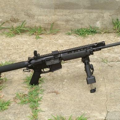 AR-15 with SOCOM Boom Tube stock