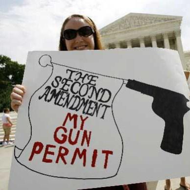 The Second Amendment is my gun permit