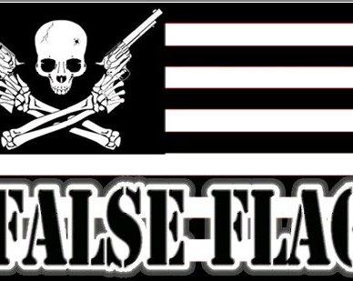 False Flag with Skull and Cross Bones