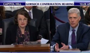 Judge Neil Gorsuch during confirmation hearings