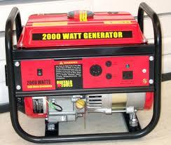 Small red generator.
