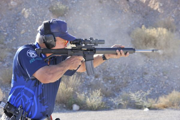 Jerry Miculek shooting an AR-15 Competition Rifle