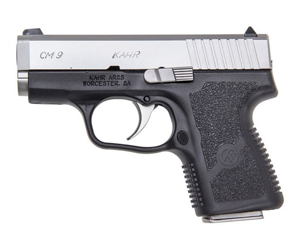 Kahr Arms CM9 two-toned 9mm semiautomatic pistol
