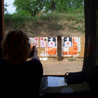 Some ranges do not have a target retrieval system. This means you will have to cross the firing line.