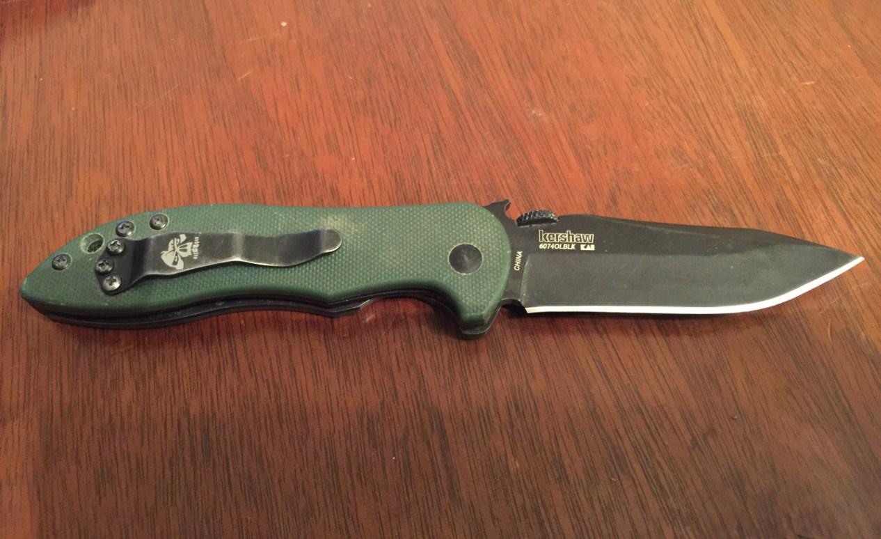 Kershaw CQC knife pocket clip