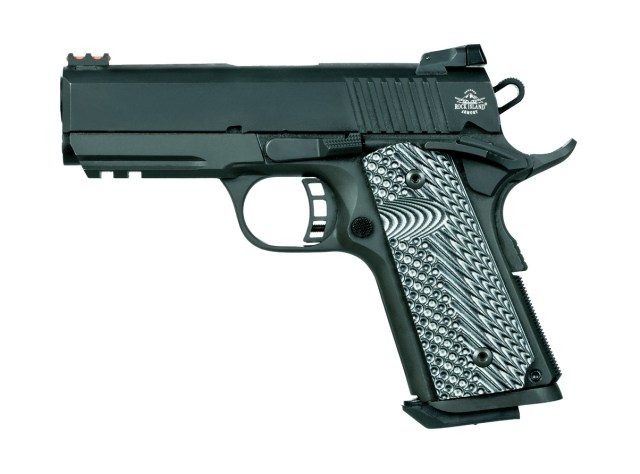 Compact 1911 with G10 grips and black finish
