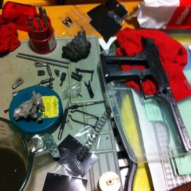 Gunsmithing table