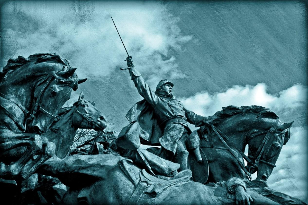 defending a statue