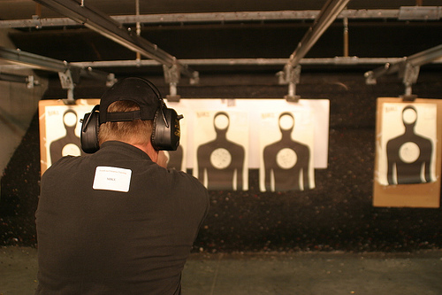 Bring your target in closer than the standard 15 to 20 feet.