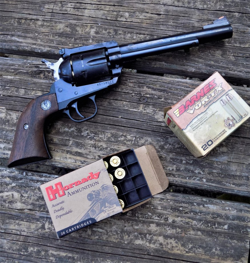 Ruger Blackhawk .41 Magnum with ammunition boxes