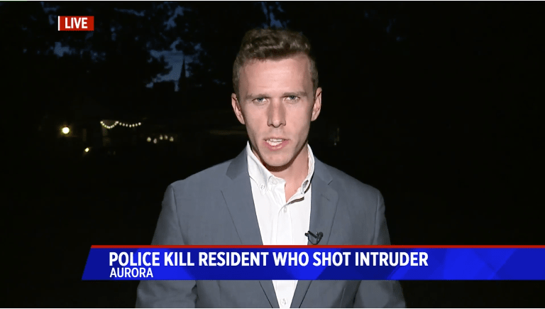 News reporter on the scene